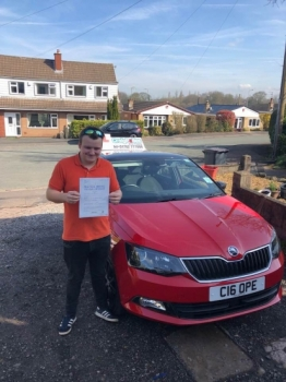 A big congratulations to Jordan Craddock, who has passed his driving test today at Cobridge Driving Test Centre, at his First attempt and with 3 driver faults.<br />