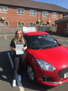 A big congratulations to Emily Greatbatch, who has passed her driving test today at Newcastle Driving Test Centre, at her First attempt and with 5 driver faults.<br />