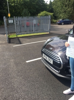 A big congratulations to a camera shy Kelly Brindley Kelly passed her driving test at Newcastle Driving Test Centre with just 6 driver faults <br />