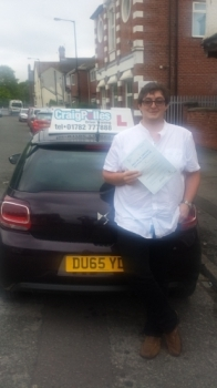 A big congratulations to Kerain Boden Kerain passed his driving test today at Cobridge Driving Test Centre with just 5 driver faults <br />