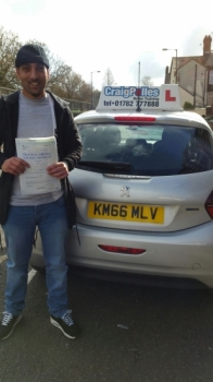 A big congratulations to Khateeb Khan Khateeb passed his<br />