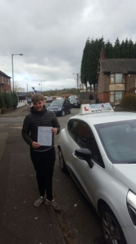 A big congratulations to Kyle Batty Kyle passed his<br />