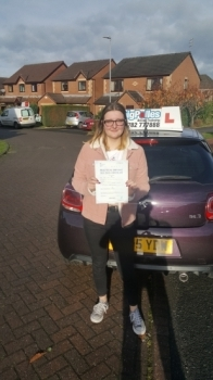 A big congratulations to Laura Jones, who has passed her driving test today at Cobridge Driving Test Centre. First time and with just 1 driver fault.<br />