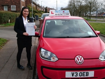 A big congratulations to Leigh Arellano, who has passed her driving test today at Newcastle Driving Test Centre, with just 5 driver faults.<br />