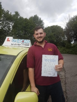 A big congratulations to Leon Eaton Leon passed his driving test today at Cobridge Driving Test Centre first time and with just 3 driver faults <br />