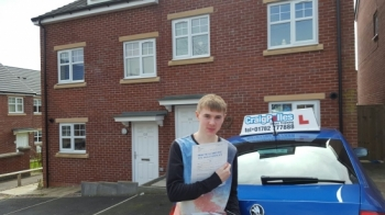 A big congratulations to Lewis Rogers Lewis passed his<br />
