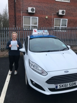 A big congratulations to Lucy Bould, who has passed her driving test today at Newcastle Driving Test Centre, with 7 driver faults.<br />
