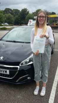 A big congratulations to Megan Ashley Megan passed her driving test today at Newcastle Driving Test Centre first time and with just 7 driver faults <br />