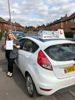 A big congratulations to Michelle Hampton, who has passed her driving test at Newcastle Driving Test Centre, at her First attempt and with just 4 driver faults.<br />