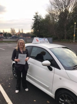 A big congratulations to Natasha Tomkinson Natasha passed her driving test at Newcastle Driving Test Centre at her first attempt<br />