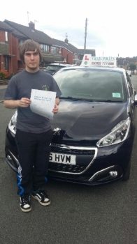 A big congratulations to Niall Sephton Niall passed his driving test today at Newcastle Driving Test Centre with just 1 driver fault <br />
