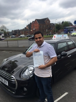 A big congratulations to Nivin Jose Nivin passed his driving test at Cobridge Driving Test Centre with just 6 driver faults <br />