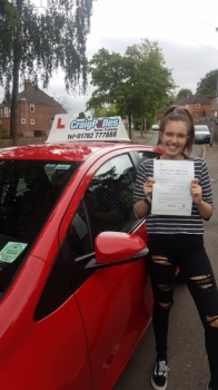 A big congratulations to Megan Brown, who has passed her driving test at Newcastle Driving Test Centre, with just 3 driver faults.<br />