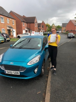 A big congratulations to Olivia Haydon, who her passed her driving test today at Newcastle Driving Test Centre.<br />