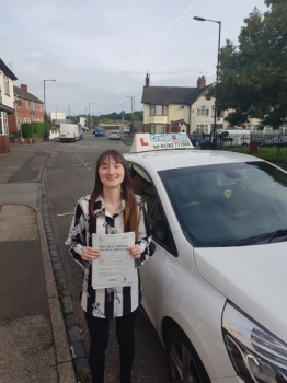 A big congratulations to Bethany Pattie, who has passed her driving test today, at Cobridge Driving Test Centre<br />