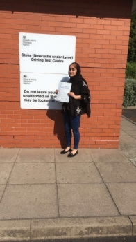 A big congratulations to Natasha, who has passed her driving test today at Newcastle Driving Test Centre,<br />