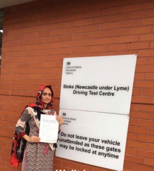 A big congratulations to Asma Kouser, who has passed her driving test at Newcastle Driving Test Centre,<br />