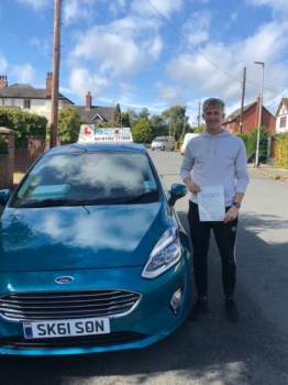 A big congratulations to Josh Parrish, who has passed his driving test today, at Newcastle Driving Test Centre.<br />