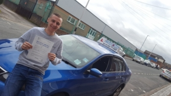 A big congratulations to Ashley Taylor, who has passed his driving test today at Cobridge Driving Test Centre.<br />
