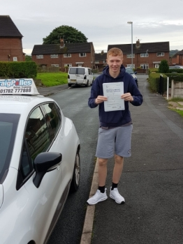 A big congratulations to Jordan Porter, who has passed his driving test today, at Cobridge Driving Test Centre, with just 2 driver faults.<br />