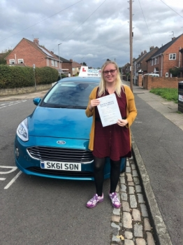 A big congratulations to Miranda Ward, who has passed her driving test today at Newcastle Driving Test Centre, with just 5 driver faults.<br />