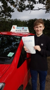 A big congratulations to Will Mercer, who has passed his driving test today at Newcastle Driving Test Centre.<br />