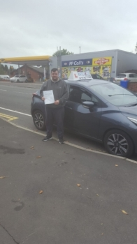 A big congratulations to Mathew Blandford, who has passed his driving test today at Cobridge Driving Test Centre.<br />