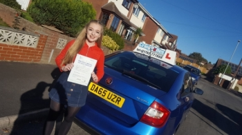 A big congratulations to Frankie Lawrence, who has passed her driving test today at Cobridge Driving Test Centre, with just 4 driver faults.<br />