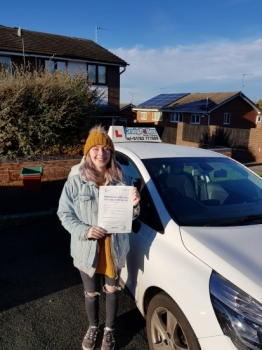 A big congratulations to Lauren Pattie, who has passed her driving test today at Cobridge Driving Test Centre.<br />