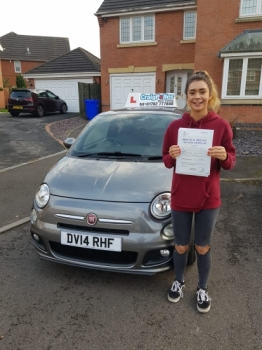 A big congratulations to Yasmin Quick, who has passed her driving test today at Newcastle Driving Test Centre.<br />