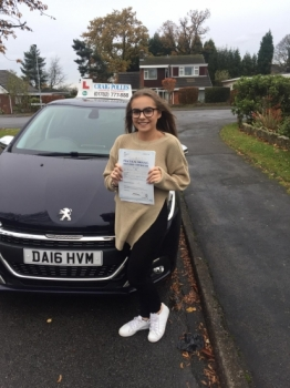 A big congratulations to Charlie Betley, who has passed her driving test today at Newcastle Driving Test Centre.<br />