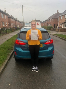 A big congratulations to Cayleigh Rodgers, who has passed her driving test today at Newcastle Driving Test Centre.<br />