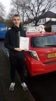A big congratulations to Will Jones, who has passed his driving test today at Newcastle Driving Test Centre, on his First attempt and with just 5 driver faults.<br />