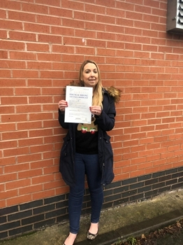 A big congratulations to Jayne Welch, who has passed her driving test today at Newcastle Driving Test Centre, on her First attempt and with 8 driver faults.<br />