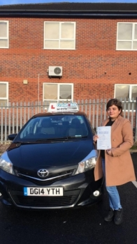 A big congratulations to Mrs Hina Ammir, who has passed her driving test toady at Newcastle Driving Test Centre.<br />