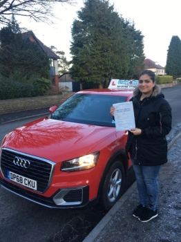 A big congratulations to Dr Ayesha Chaudhry, who has passed her driving test today at Buxton Driving Test Centre, with just 4 driver faults.<br />