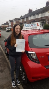 A big congratulations to Sophie Taylor, who has passed her driving test today at Newcastle Driving Test Centre, on her First attempt and with just 3 driver faults.<br />