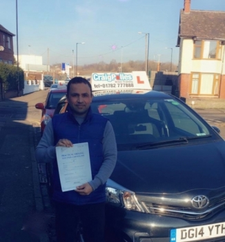 A big congratulations to Anser Mahmood, who has passed his driving test today at Cobridge Driving Test Centre, at his First attempt and with 0 driver faults.<br />