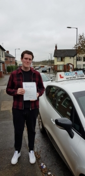 A big congratulations to Alex Edgington, who has passed his driving test today at Cobridge Driving Test Centre, on his First attempt and with just 3 driver faults.<br />