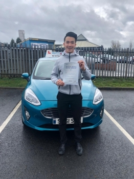 A big congratulations to Henry Wong, who has passed his driving test today at Newcastle Driving Test Centre, with just 3 driver faults.<br />