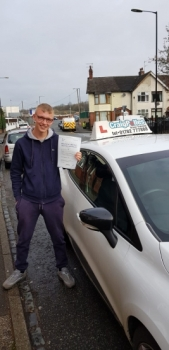 A big congratulations to Jake Hall, who has passed his driving test today at Cobridge Driving Test Centre, on his First attempt and with just 6 driver faults.<br />