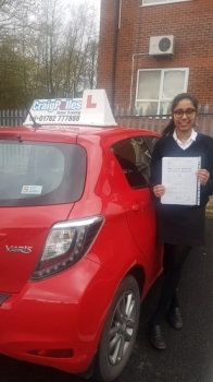 A big congratulations to Avani Chavan, who has passed her driving test today at Newcastle Driving Test Centre, with just 4 driver faults.<br />