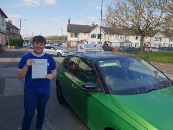 A big congratulations to Cameron Rew, who has passed his driving test today at Cobridge Driving Test Centre, with just 5 driver faults.<br />