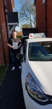 A big congratulations to Matt Meakin, who has passed his driving test today at Cobridge Driving Test Centre, with just 5 driver faults.<br />