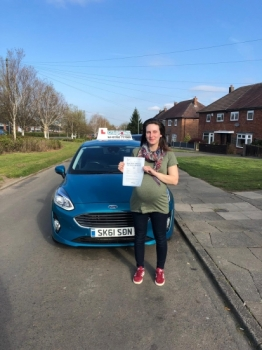 A big congratulations to Jay Steele, who has passed her driving test today at Cobridge Driving Test Centre, with just 4 driver faults.<br />