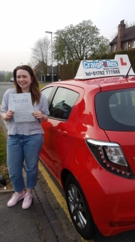 A big congratulations to Emily Tunnicliffe, who has passed her driving test today at Newcastle Driving Test Centre, with just 6 driver faults.<br />