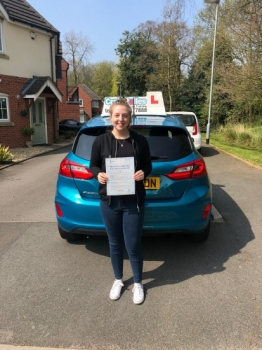 A big congratulations to Chloe Stanyer, who has passed her driving test today at Newcastle Driving Test Centre, on her First attempt and with 8 driver faults.<br />