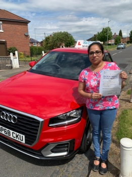 A big congratulations to Merin Thomas, who has passed her driving test today at Newcastle Driving Test Centre, on her First attempt with 7 driver faults.<br />