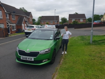 A big congratulations to Molly Godding, who has passed her driving test today at Newcastle Driving Test Centre, on her First attempt.<br />