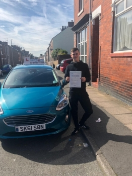 A big congratulations to Jamie Godfrey, who has passed his driving test today at Newcastle Driving Test Centre, on his First attempt and with just 5 driver faults.<br />